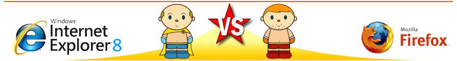 internet explorer 8 vs. Firefox 3 im Browser-Blog